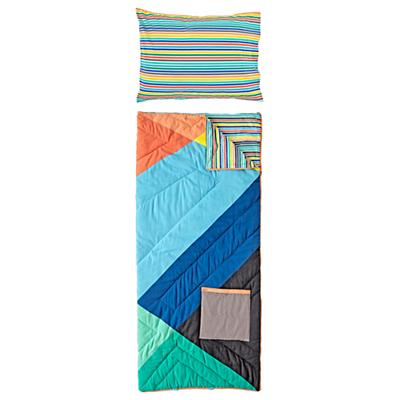 Geo Pop Sleeping Bag and Pillowcase