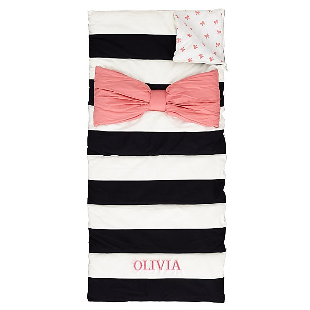 Personalized Candy Bow Sleeping Bag (Pink)