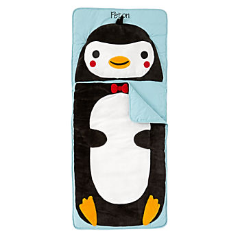Wild Penguin Personalized Toddler Sleeping Bag
