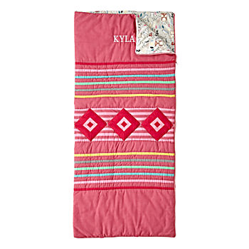 Wildwood Pink Personalized Sleeping Bag