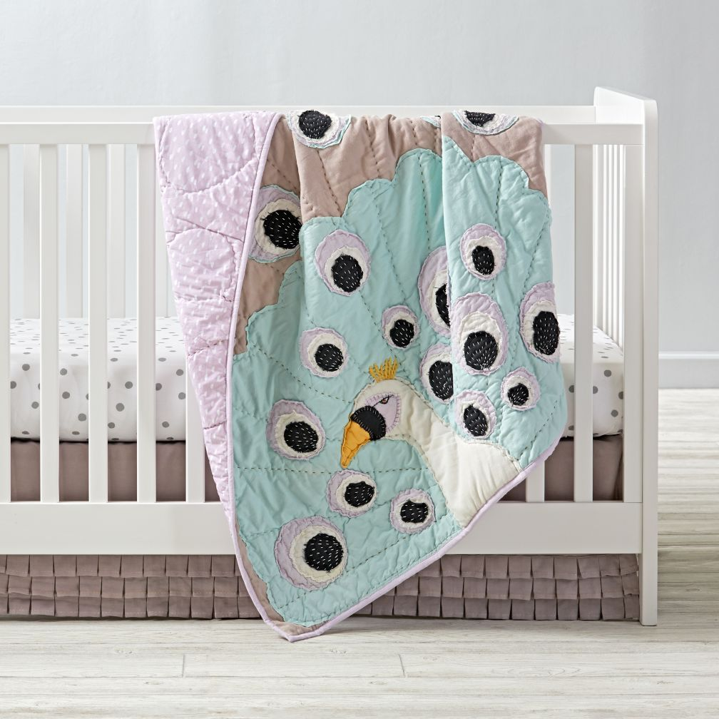 Peacock Crib Bedding