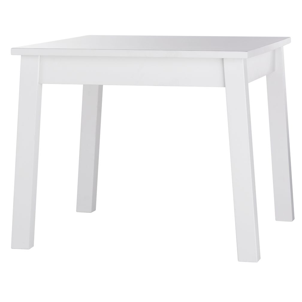 Kids White Square Play Table The Land of Nod