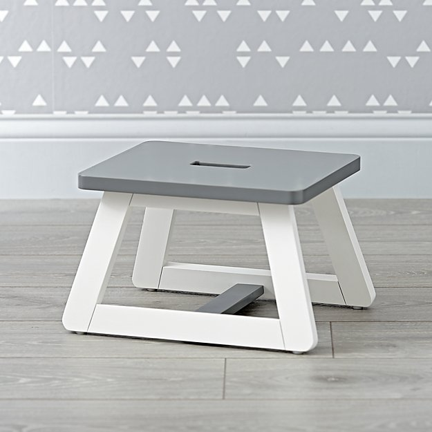 Gage White Step Stool