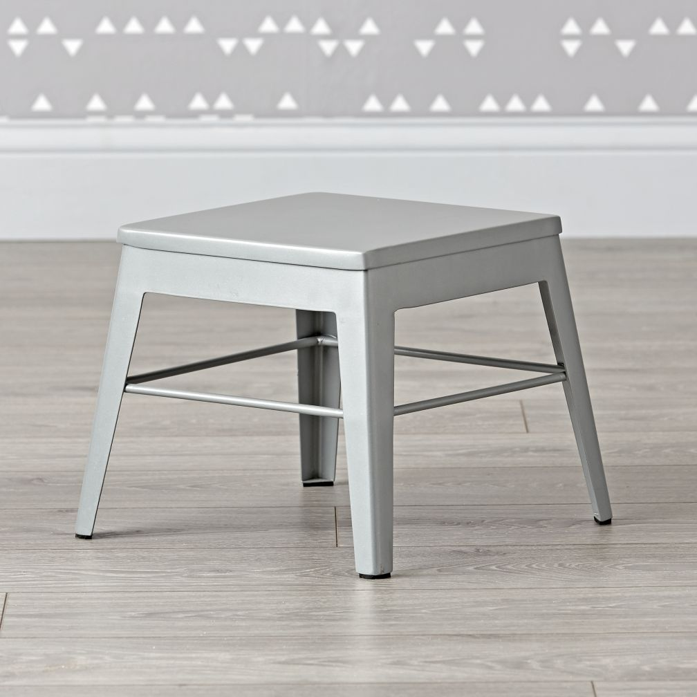 Squared Up Grey Step Stool