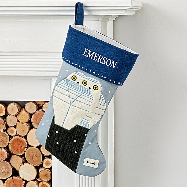 Charley Harper Personalized Owl Stocking