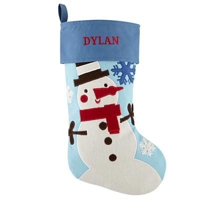 Personalized Holiday Cheer Stocking (Snowman)