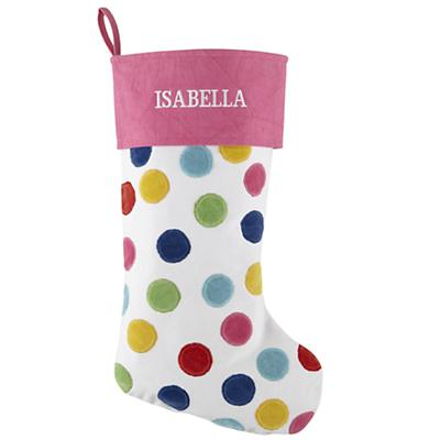 Personalized Confetti Stocking (Pink)