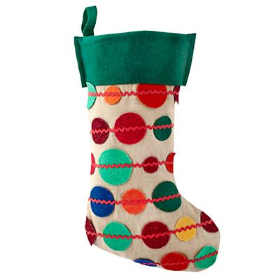 Connect the Dots Stocking (Green)