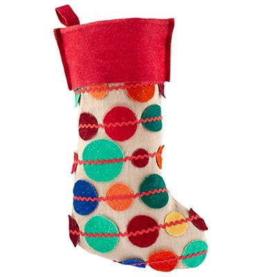 Connect the Dots Stocking (Red)