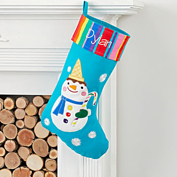 Dylan's Candy Bar Personalized Snowman Stocking