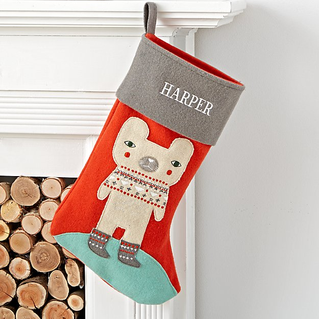 Holiday Helper Personalized Bear Stocking