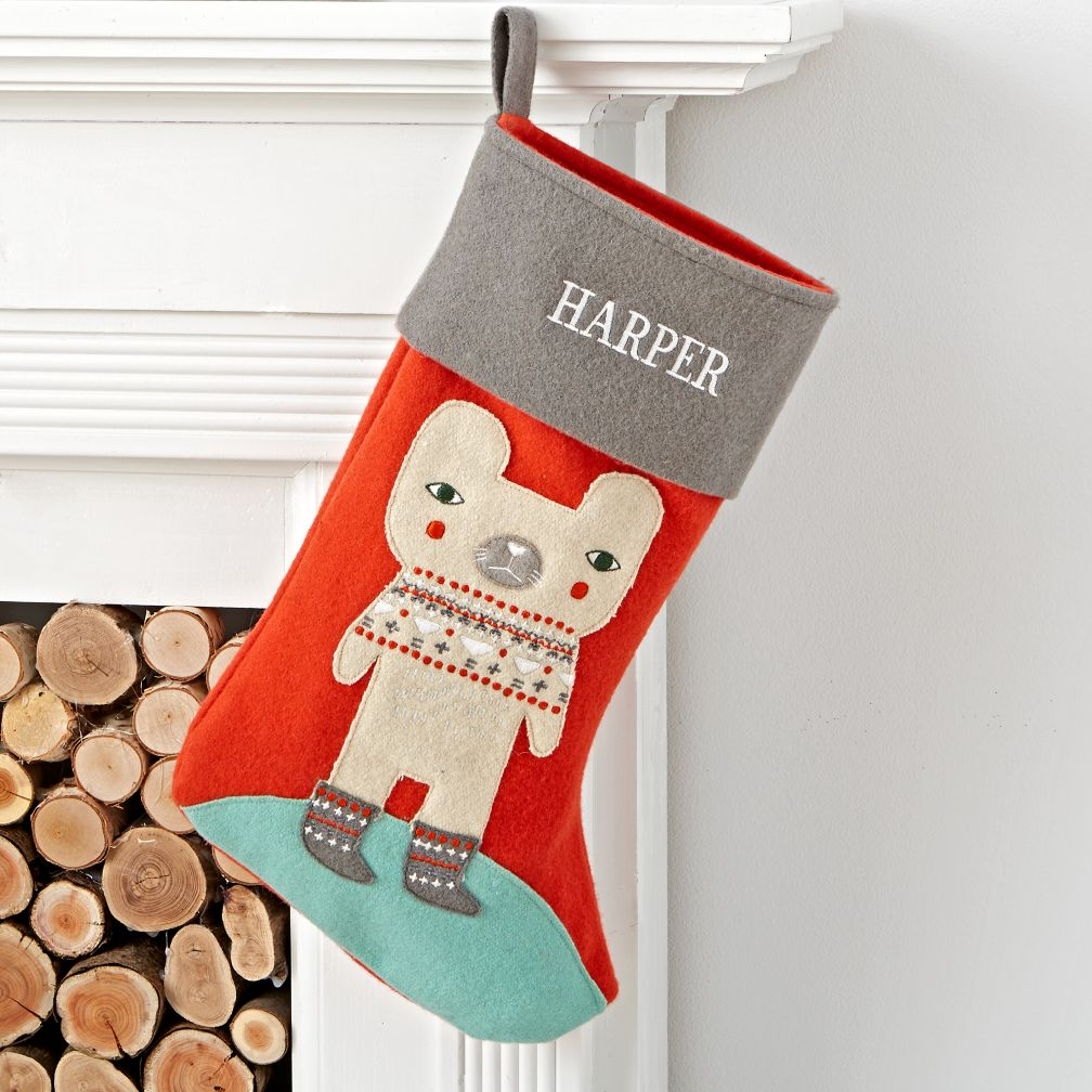 Holiday Helper Bear Stocking