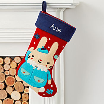 Merry Mascot Personalized Bunny Stocking