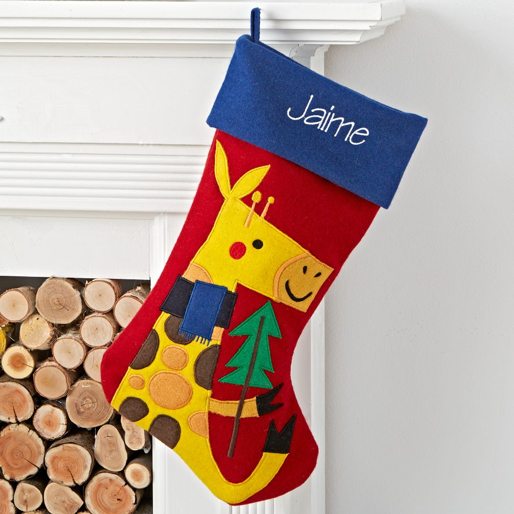 Merry Mascot Personalized Giraffe Stocking