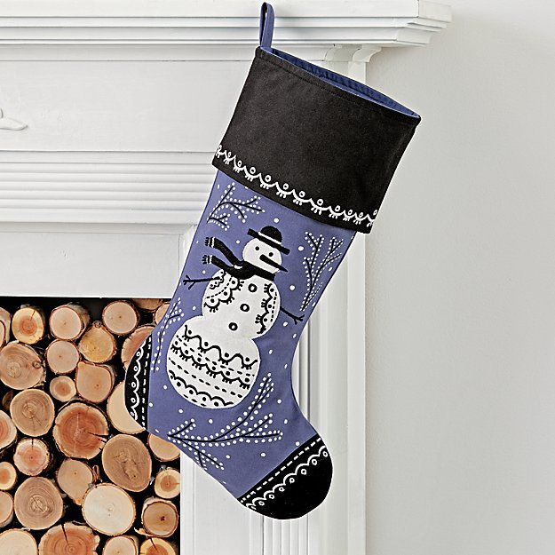 Starry Night Snowman Stocking