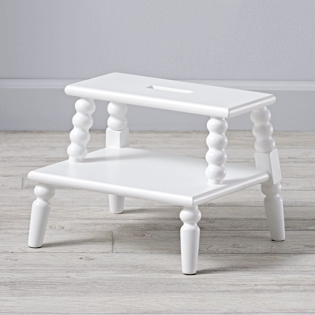 sc 1 st  The Land of Nod & Jenny Lind White Step Stool | The Land of Nod islam-shia.org