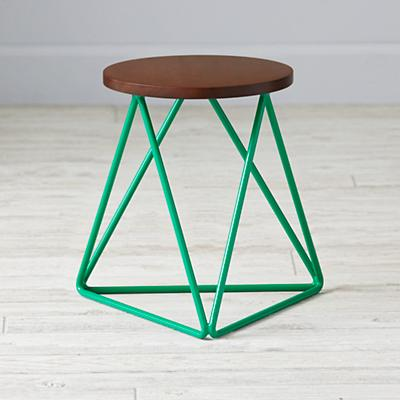 Eric Trine Green Linear Stool