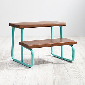 Aqua On The Double Step Stool : kid step stool - islam-shia.org