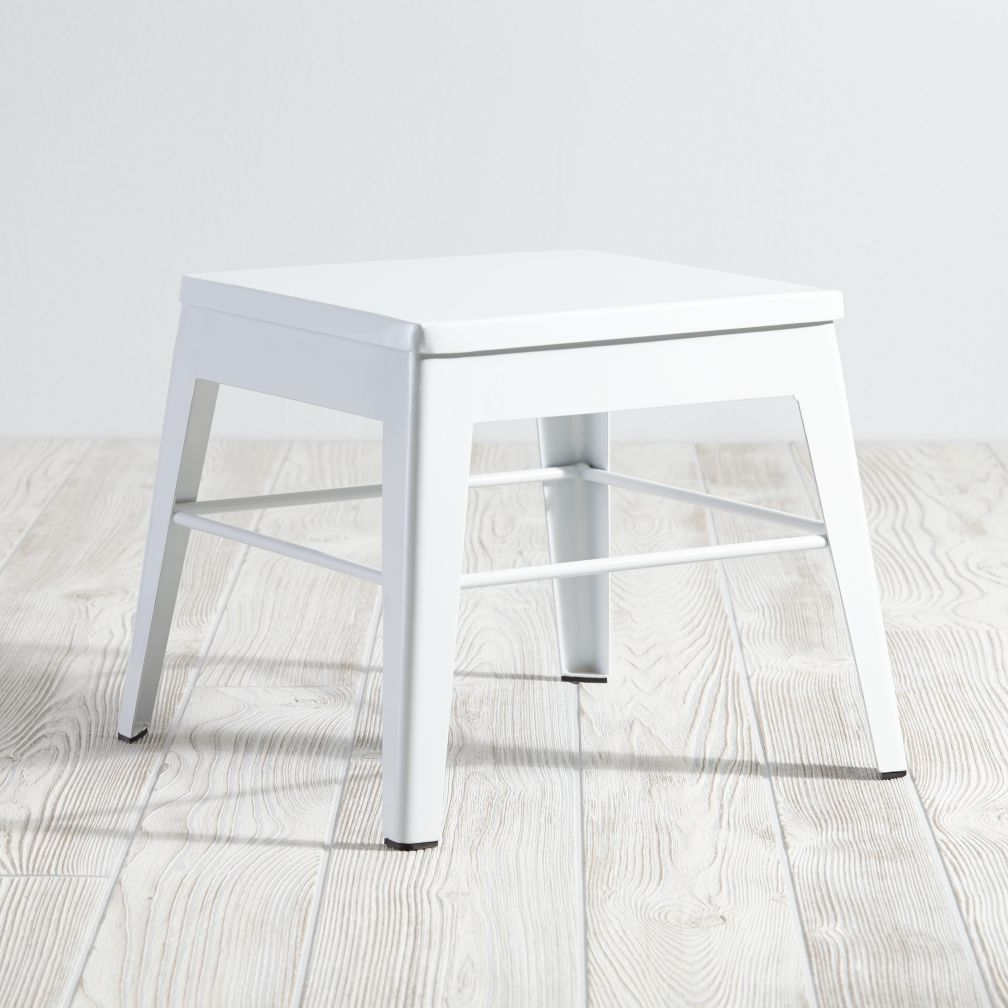 Squared Up Stool (White)