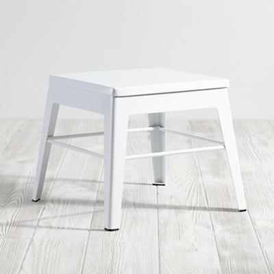 White Squared Up Step Stool