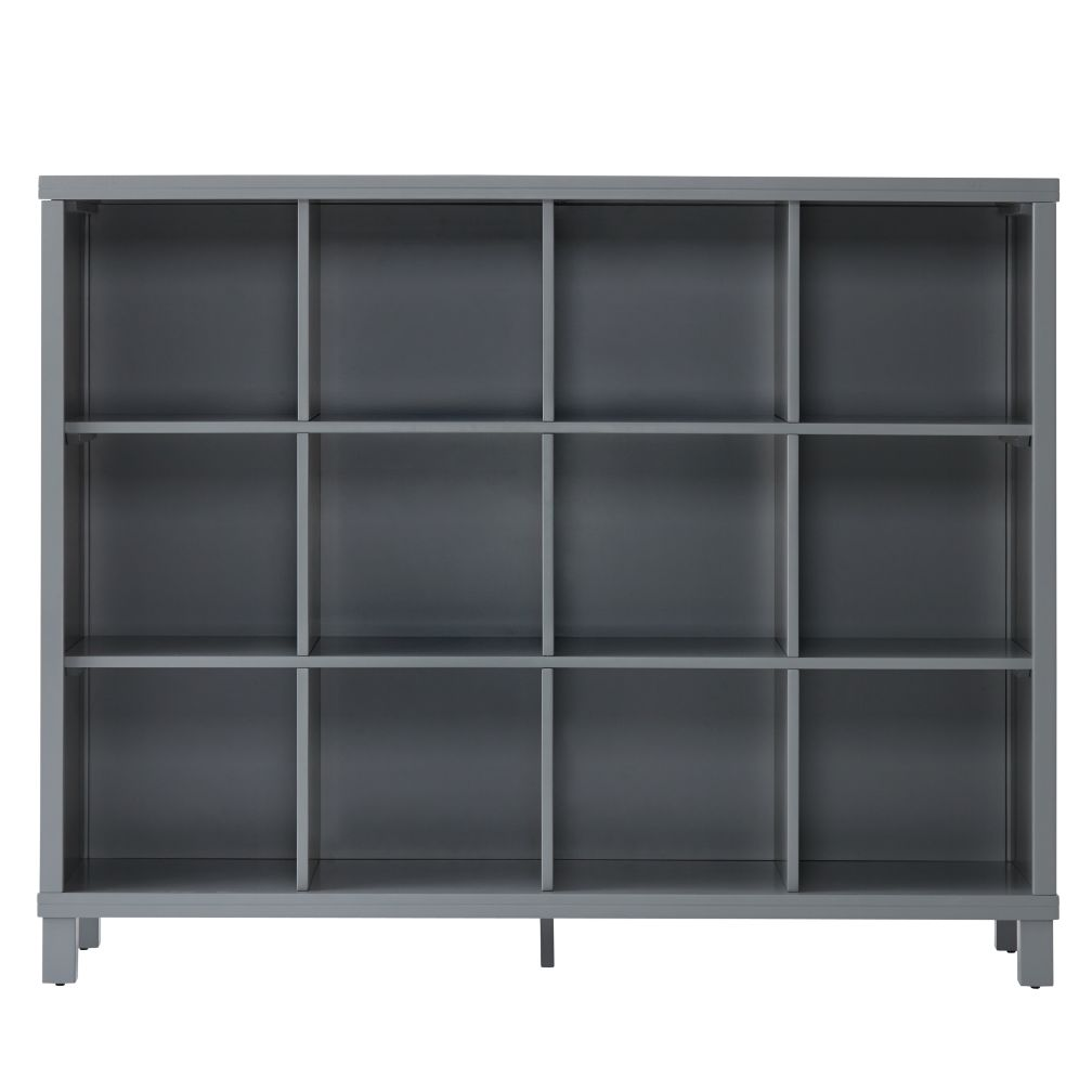 cubic tall bookcase grey 12 cube the land of nod. Black Bedroom Furniture Sets. Home Design Ideas