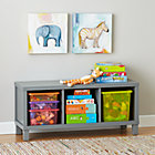 Grey 3-Compartment Cubic Bench