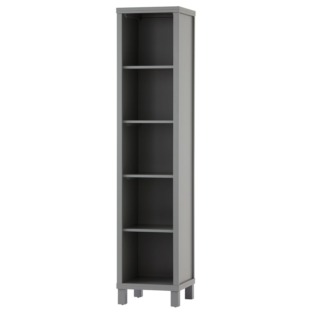 Cubic Tall Bookcase Grey 5 Cube The Land Of Nod