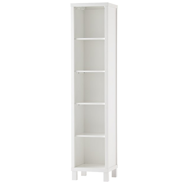 Cubic Tall Bookcase (White, 5-Cube)