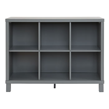 Cubic Wide Bookcase (Grey, 6-Cube)