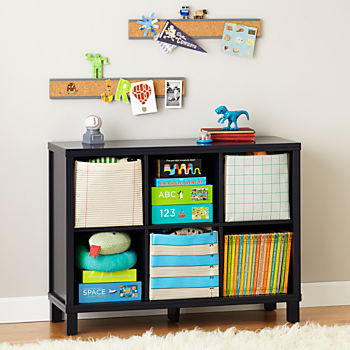 Cubic Wide Bookcase (Midnight Blue 6 Cube)