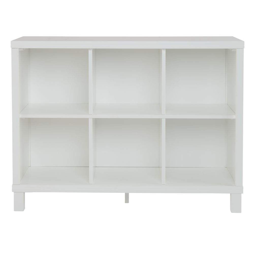 . Cubic Tall Bookcase  White  5 Cube    The Land of Nod