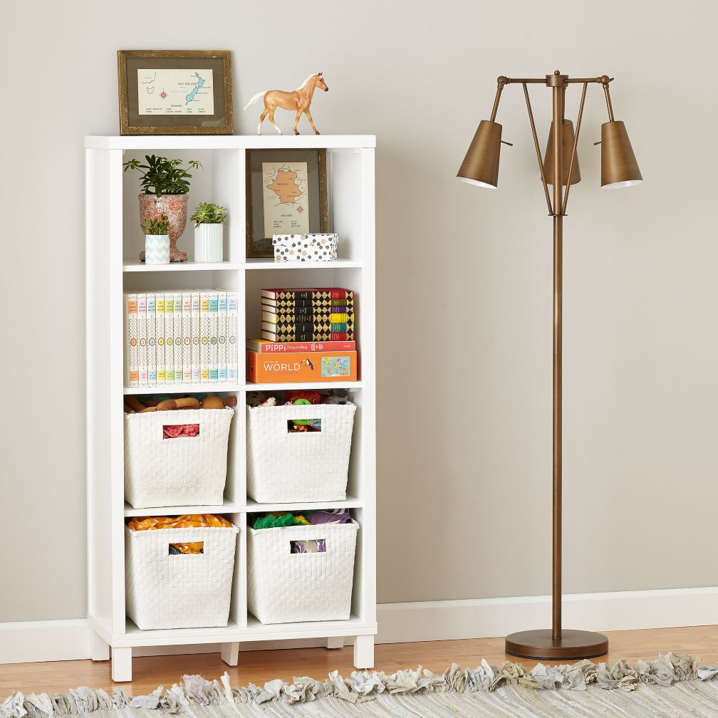eight cube tall bookcase white the land of nod. Black Bedroom Furniture Sets. Home Design Ideas