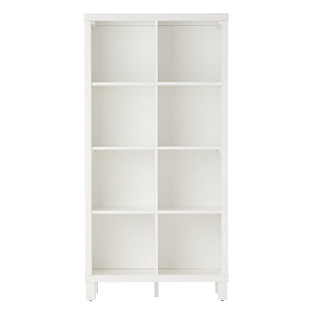 New Bookcase Toy Box White Finish Bedroom Playroom Child: Eight Cube Tall Bookcase (White)
