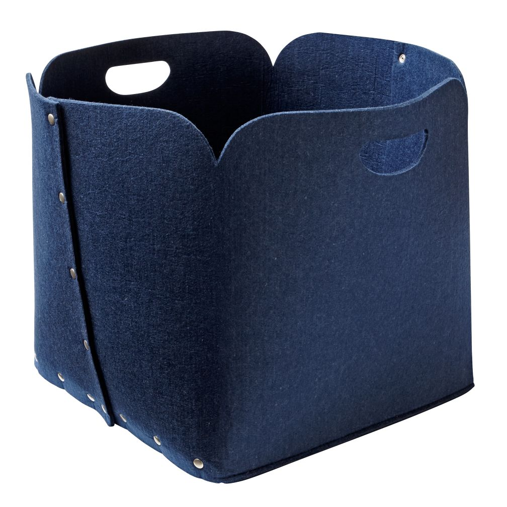 Dark Blue Aw Snap Floor Bin