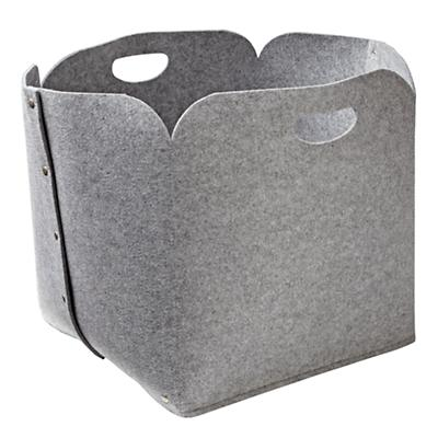 Grey Aw Snap Floor Bin