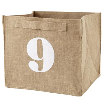 9 Store By Numbers Cube Bin