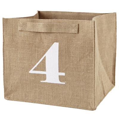 4 Store By Numbers Cube Bin