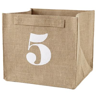 5 Store By Numbers Cube Bin
