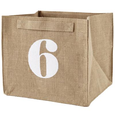 6 Store By Numbers Cube Bin