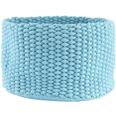 Medium Kneatly Knit Rope Bin ((Aqua))