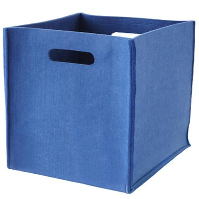 Once More with Felting Cube Bin (Blue)