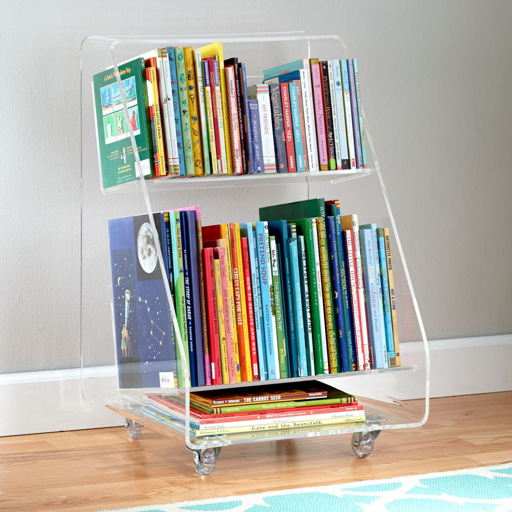 Now You See It Acrylic Book Cart The Land Of Nod