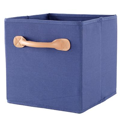 We're Not Just Canvas Cube Bin (Blue)