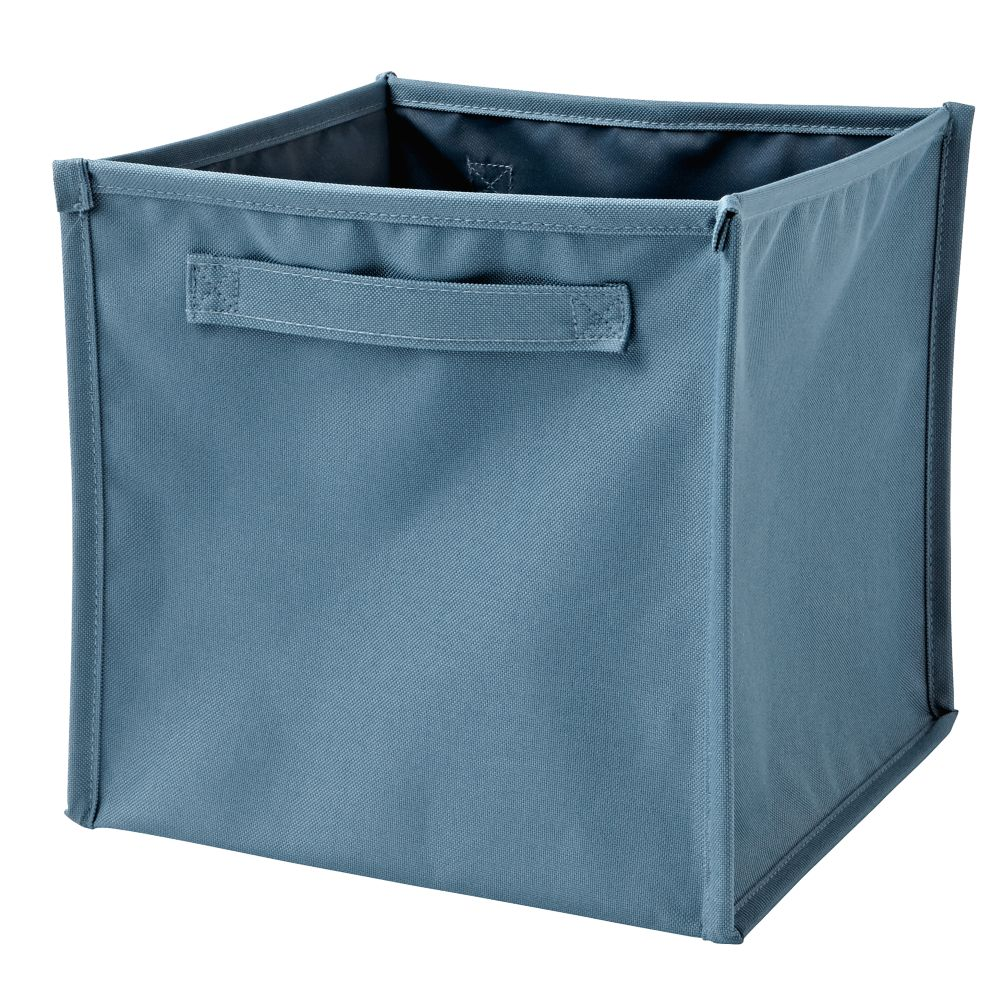 I Think I Canvas Light Blue Cube Bin