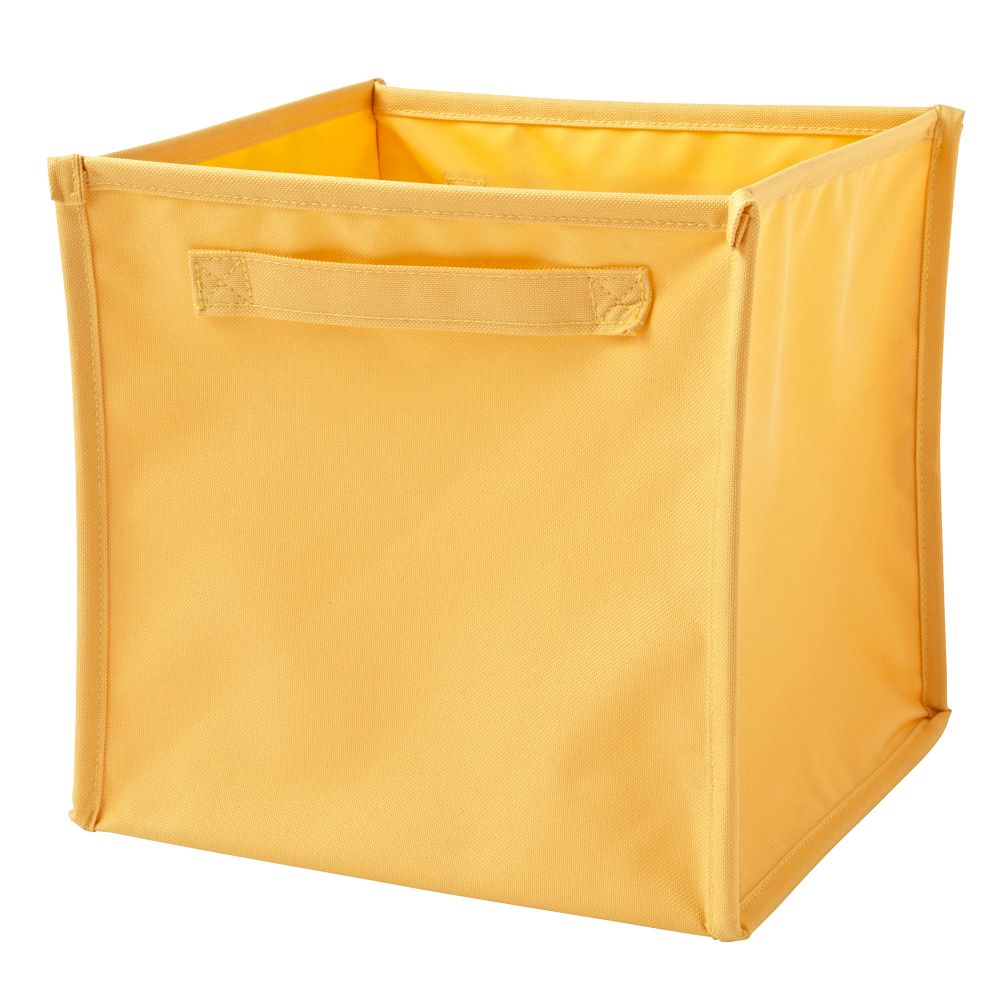 I Think I Canvas Light Yellow Cube Bin