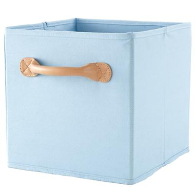 We're Not Just Canvas Cube Bin (Lt. Blue)