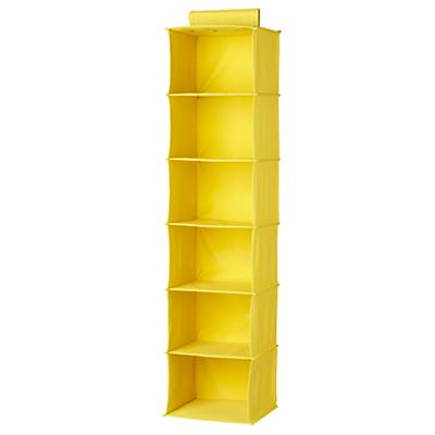 I Think I Canvas Yellow Wide Hanging Organizer