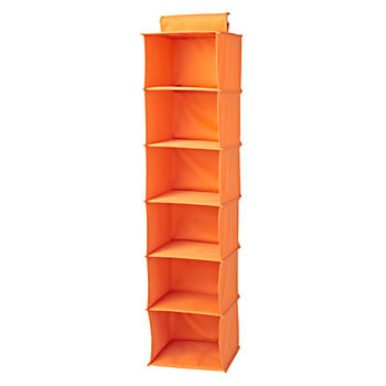 I Think I Canvas Bright Orange Wide Hanging Organizer