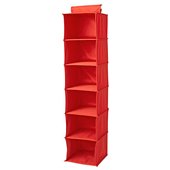 I Think I Canvas Bright Red Wide Hanging Organizer