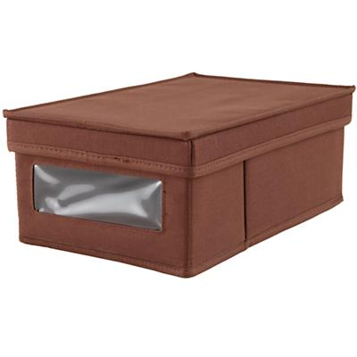I Think I Canvas Shoe Box (Brown)